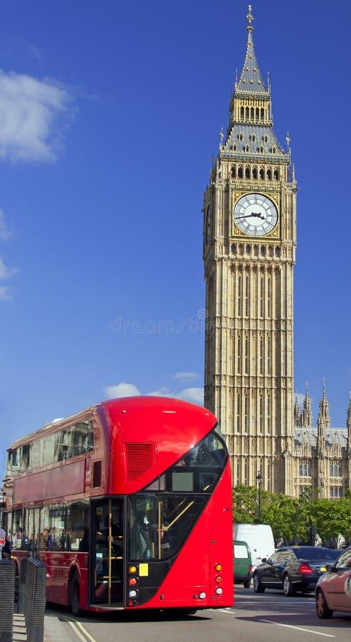 Double-decker bus and Big Ben, London, England. Europe stock image