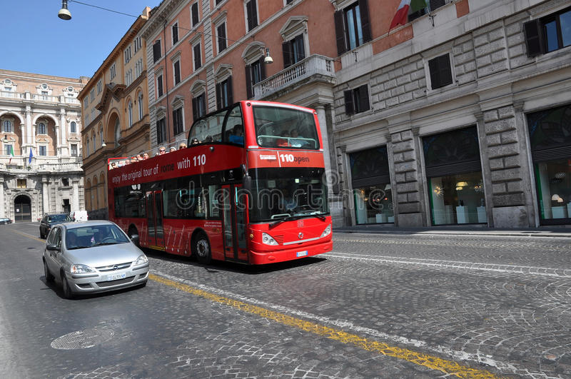 Double decker bus stock photos