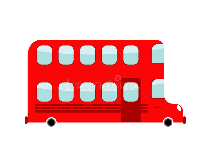 Double-decker cartoon style. london bus . Transport on w. Hite background stock illustration