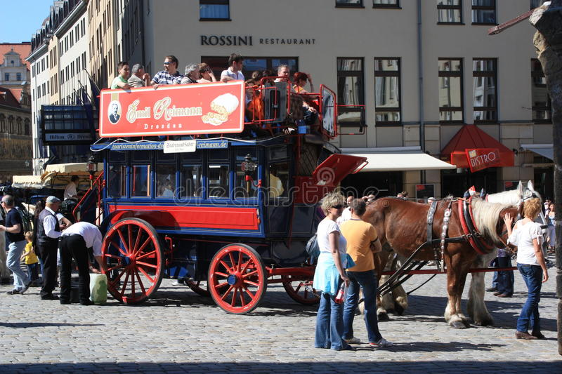 Download Double Decker Horse Carriage Ride Dresden Editorial Stock Image - Image: 23933729