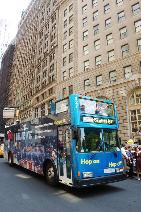 Double Decker NYC Editorial Stock Photo