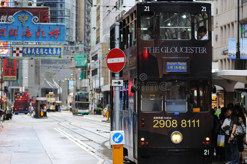 Download Double-decker Tram In Hong Kong. Editorial Photo - Image: 27565306