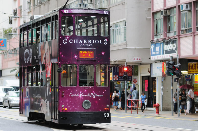 Download Double-decker Tram In Hong Kong. Editorial Photo - Image: 27565311
