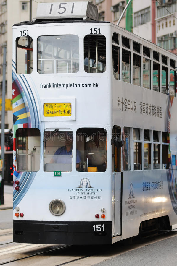 Download Double-decker Tram In Hong Kong. Editorial Stock Image - Image: 27659104
