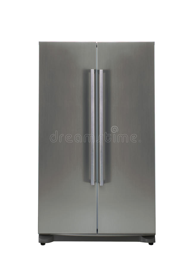 Double door freezer royalty free stock photo