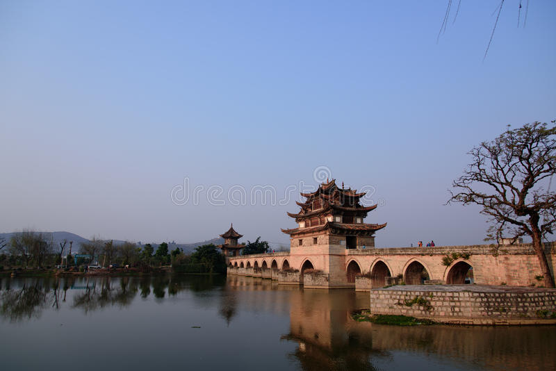 Double Dragon Bridge royalty free stock photo