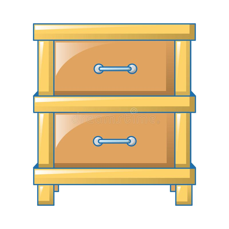 Double drawer icon, cartoon style. Double drawer icon. Cartoon of double drawer vector icon for web design isolated on white background stock illustration