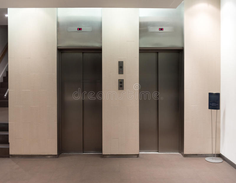 Download Double Elevator Stock Image. Image Of Elevator, Business   69966687