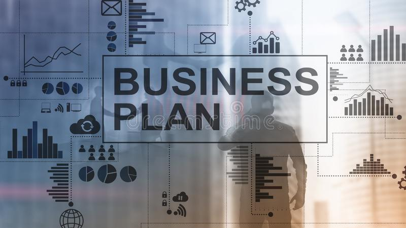 Double exposure Business plan and strategy concept. Double exposure Business plan and strategy concept royalty free stock photo
