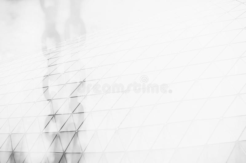 Double Exposure of Metal Chains and Modern Building with Space for Texture. royalty free stock photography