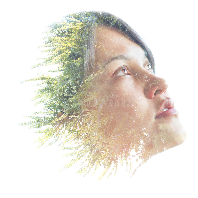 Free Double Exposure Portrait Of A Natural Beauty Royalty Free Stock Image - 35715996