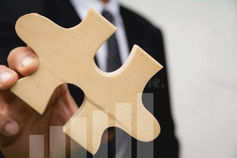 Double exposure stock financial with hand of businessman royalty free stock photos