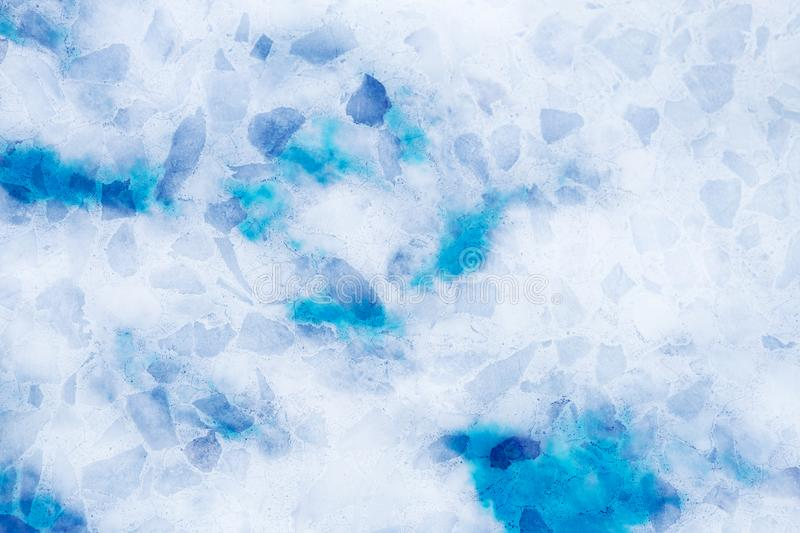 Double exposure of sweet pastel colored cloud with terrazzo stone texture, soft cloudy with gradient pastel color background. Double exposure of sweet pastel stock photo