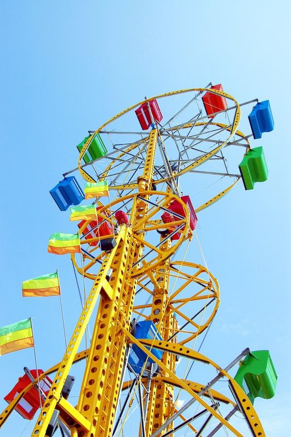 The double ferris wheel stock images