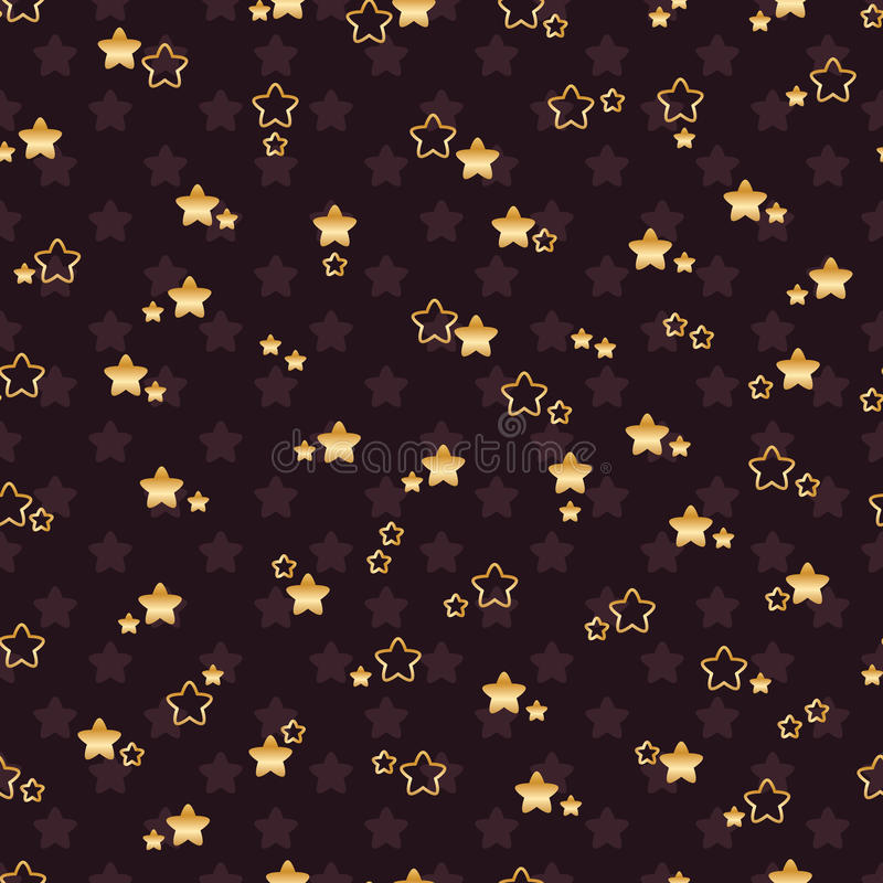Double flower star seamless pattern royalty free illustration