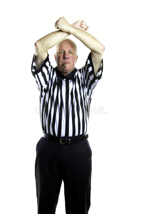 Double Foul. Basketball referee signaling a Double Foul stock images