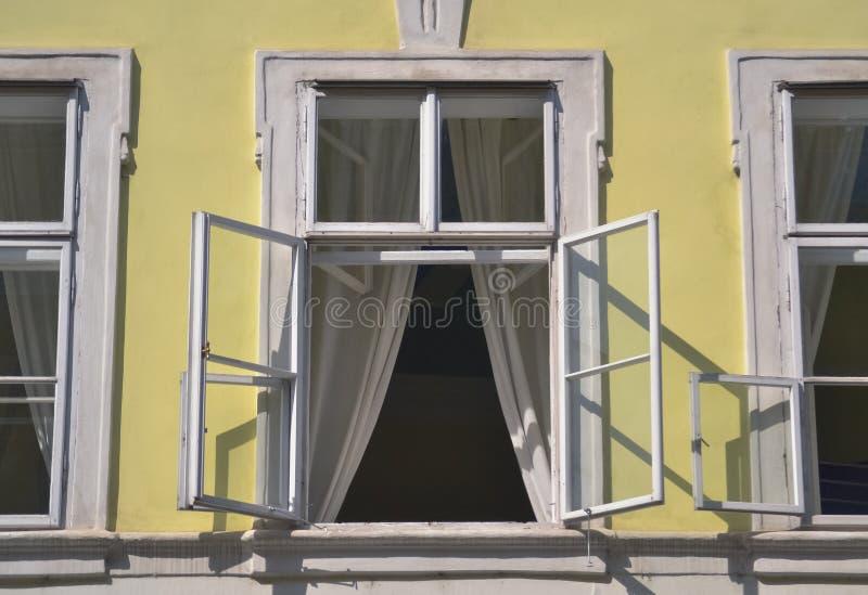 Double frame window stock photo