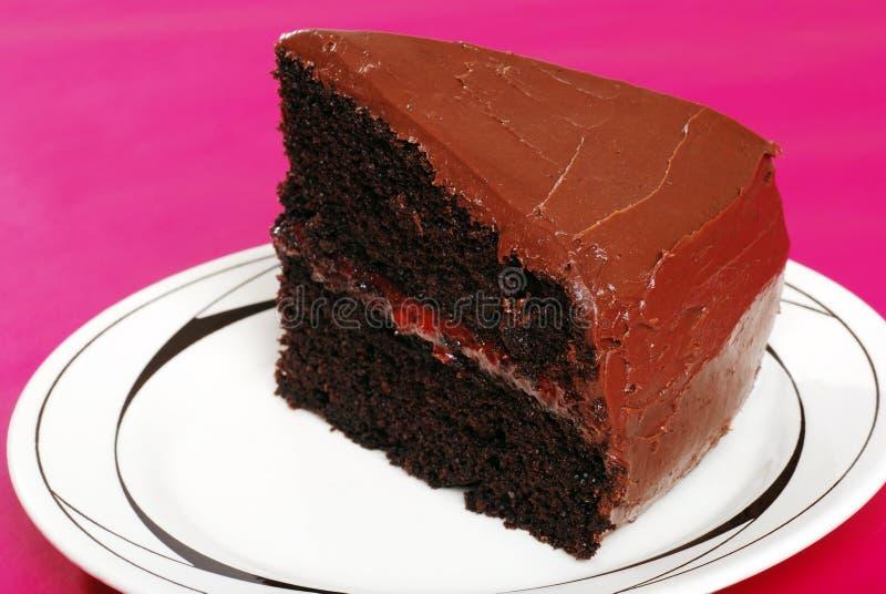 Double gâteau de chocolat photo libre de droits
