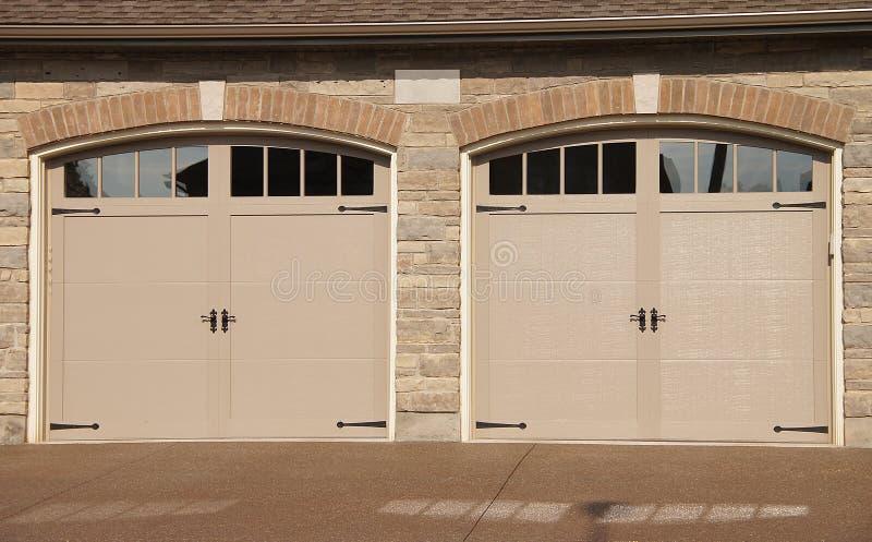 Download Double Garage Doors Driveway Stock Image - Image: 32997751