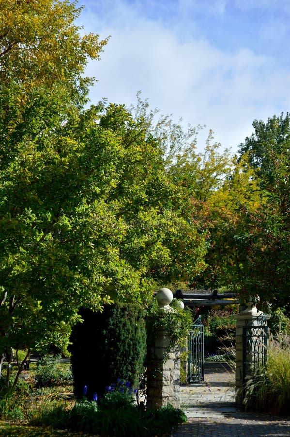 Download Double Garden Gate Idaho stock image. Image of autumn - 106112079