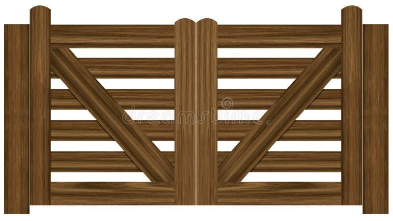 Double gates royalty free illustration