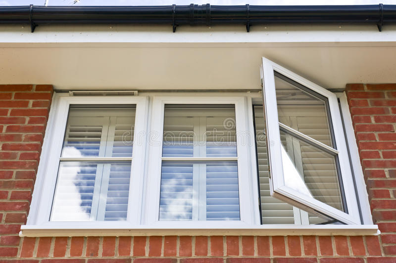 Double glazed window. A modern double glazed window set in a house royalty free stock photo