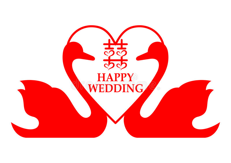 Download Double Happiness stock vector. Image of wedding, card - 8164436