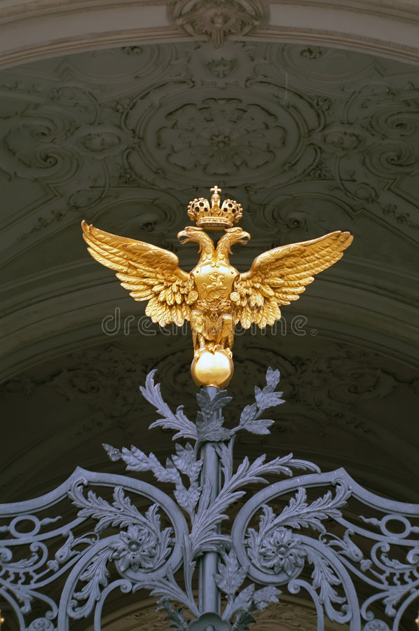 Download Double-headed Eagle On Hermitage, Saint-Petersburg Stock Image - Image: 7401149