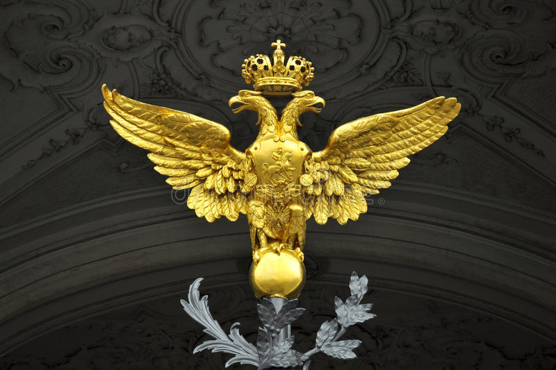 Download Double Headed Eagle, Winter Palace, St.Petersburg Stock Image - Image: 23646209