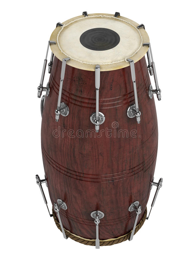 Download Double-headed hand-drum stock illustration. Illustration of dholak - 23119402