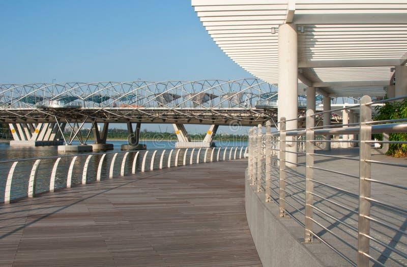 The Double Helix Bridge Editorial Stock Image