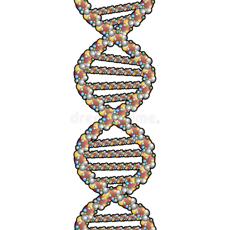 Double Helix with clipping path. Rasterized Original Vector Artwork vector illustration