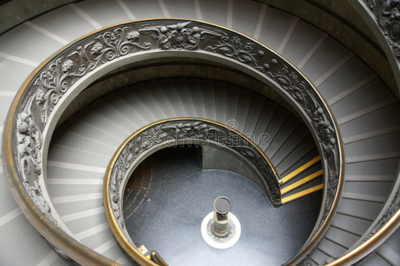 Double Helix Staircase. The double helix spiral staircase in the Vatican royalty free stock image