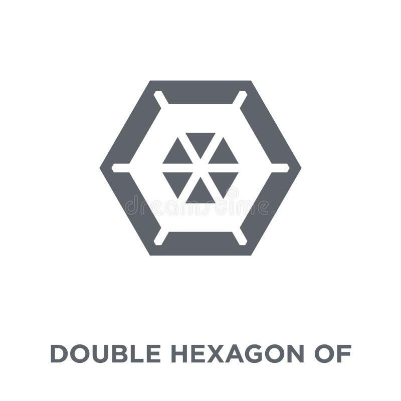 Double hexagone de petite icône de triangles de collection de la géométrie illustration libre de droits