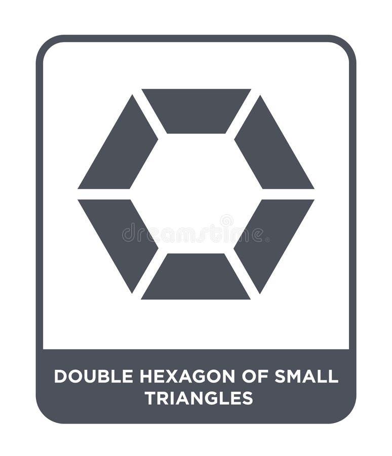 double hexagone de petite icône de triangles dans le style à la mode de conception double hexagone de la petite icône de triangle illustration libre de droits