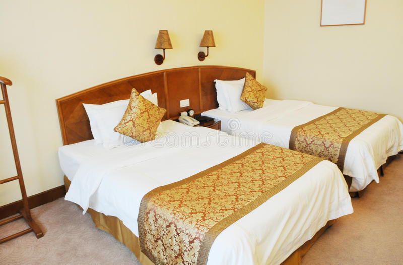 Double hotel room royalty free stock photos