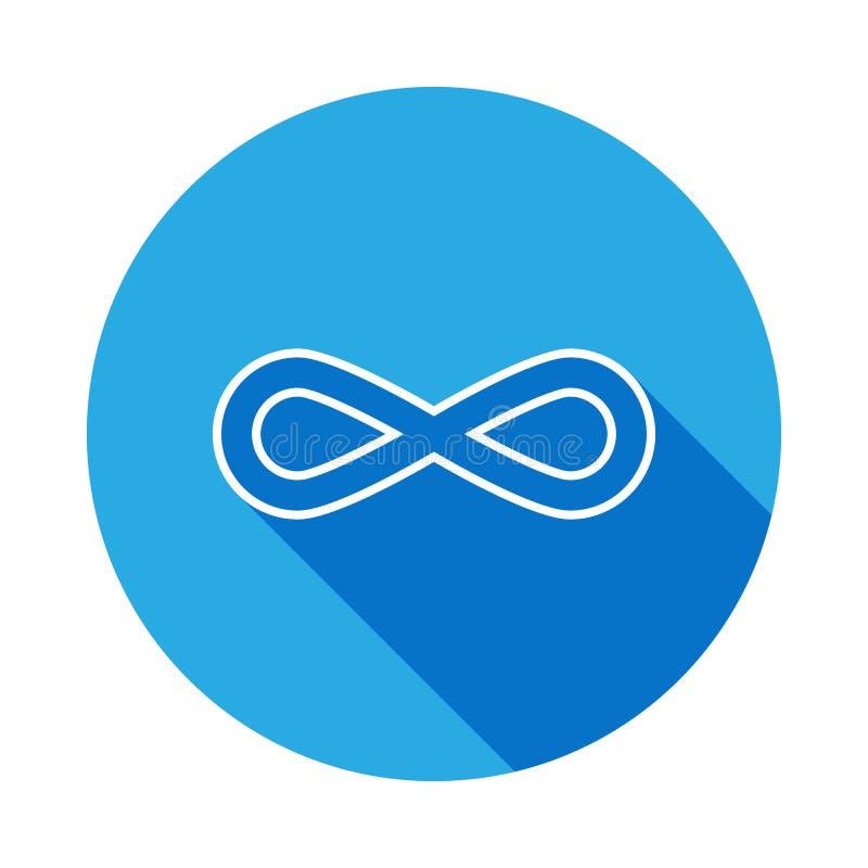 double icône de flèches avec la longue ombre Ligne mince icône pour la conception de site Web et le développement, développement  illustration de vecteur