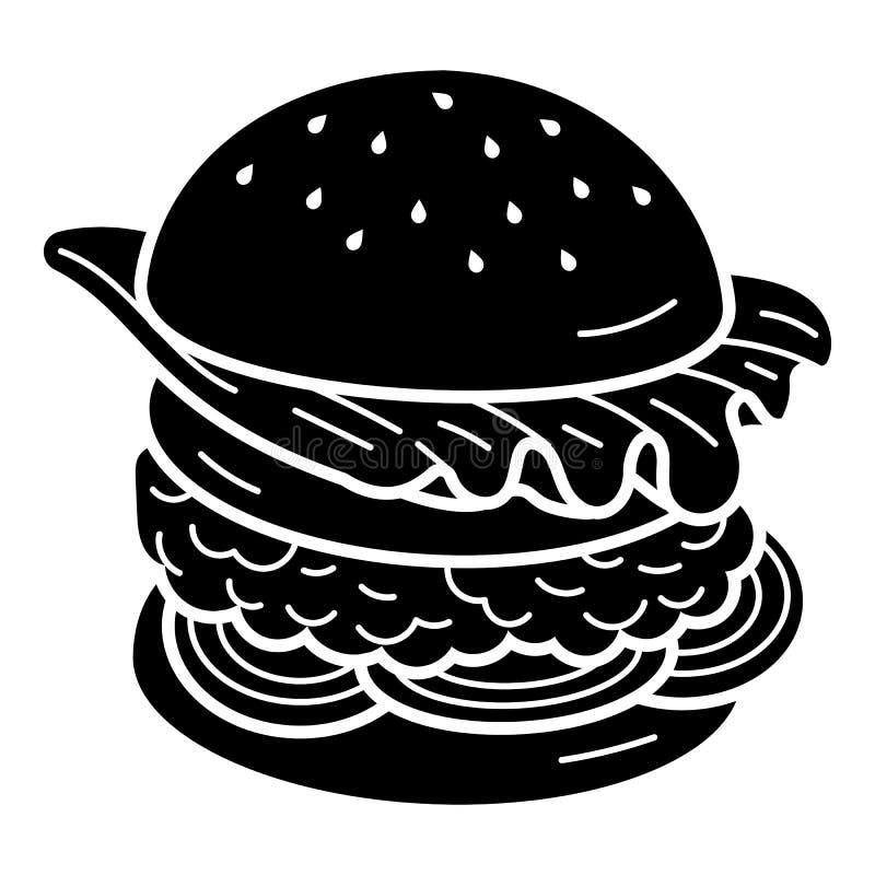 Double ic?ne d'hamburger, style simple illustration libre de droits