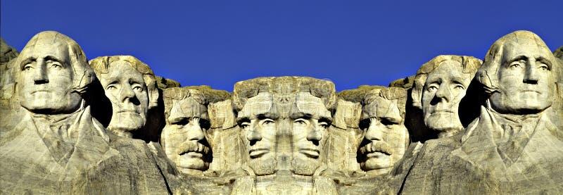Double image de support Rushmore image libre de droits