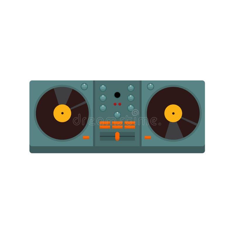 Double jockey de disque de plaque tournante Vector Illustration Graphic illustration de vecteur