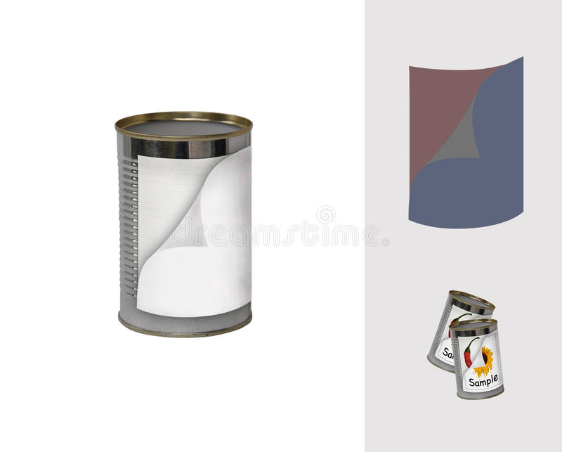 double-label tin can royalty free stock photography