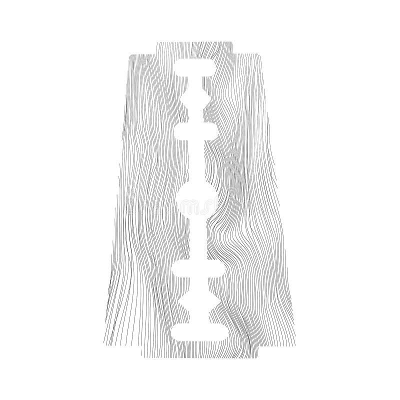 Double lame de rasoir traditionnelle de bord Outil pour la coupe de cheveux et le rasage Équipement de Sheving d'acier inoxydable illustration stock