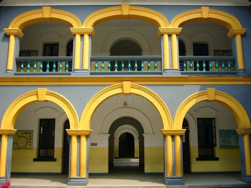 Double-layer portico stock images