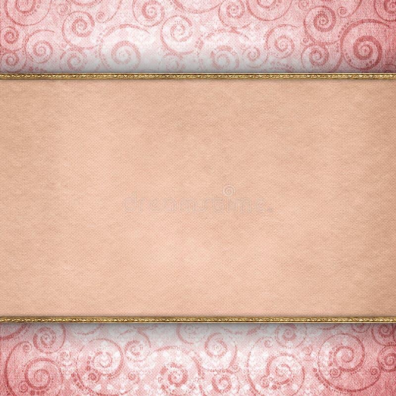 Double-layered malplaatje als achtergrond vector illustratie