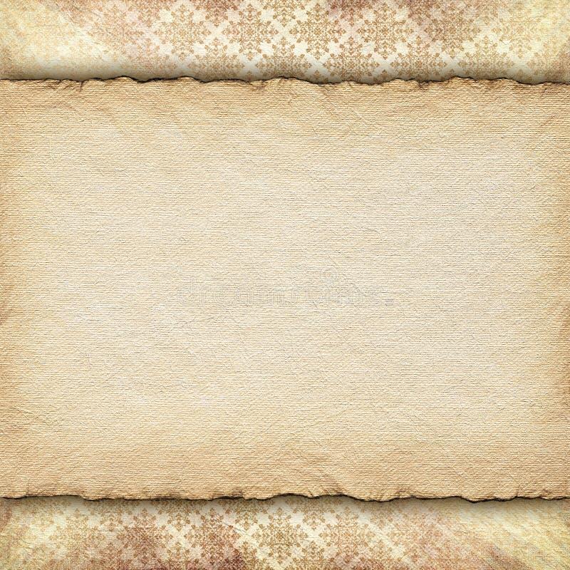 Double-layered malplaatje als achtergrond stock illustratie