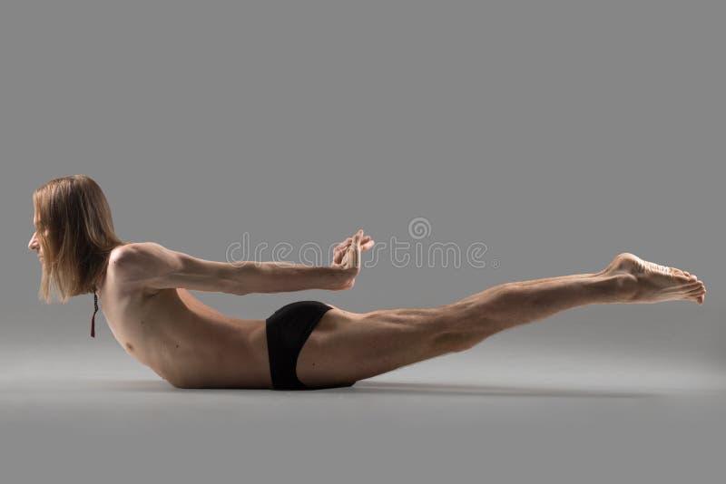 Double Leg Kicks exercise royalty free stock photo