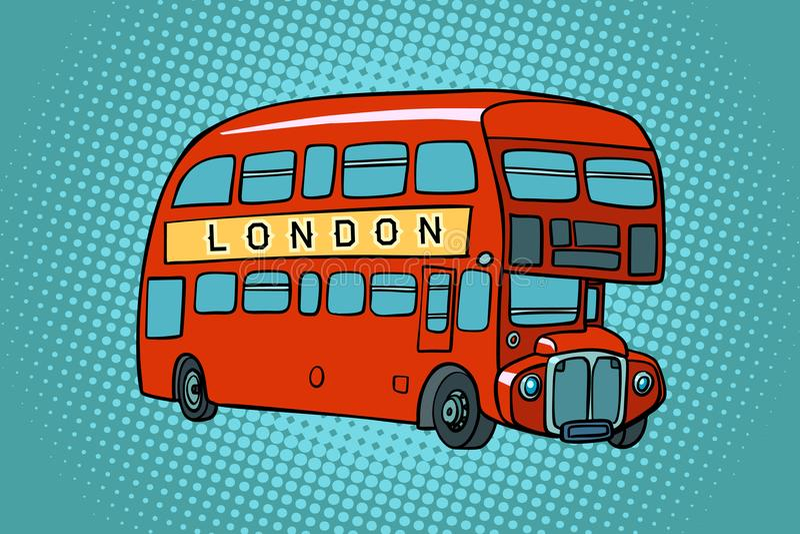 double Londres de pont de bus illustration stock