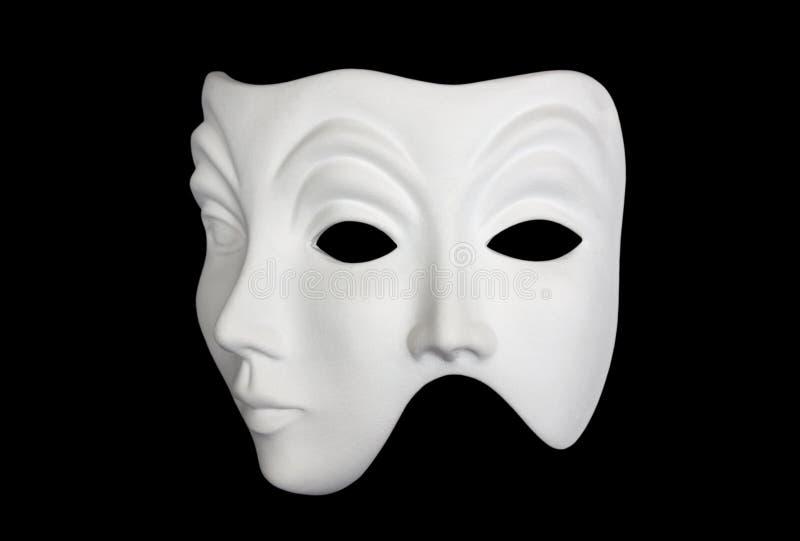double masque d 39 isolement par visage noir au dessus de blanc image stock image du acteurs. Black Bedroom Furniture Sets. Home Design Ideas