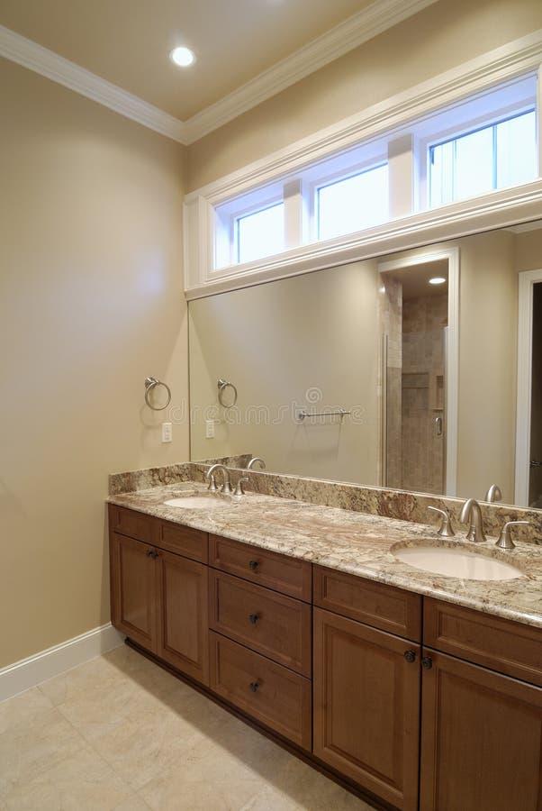double master suite vanity στοκ εικόνες