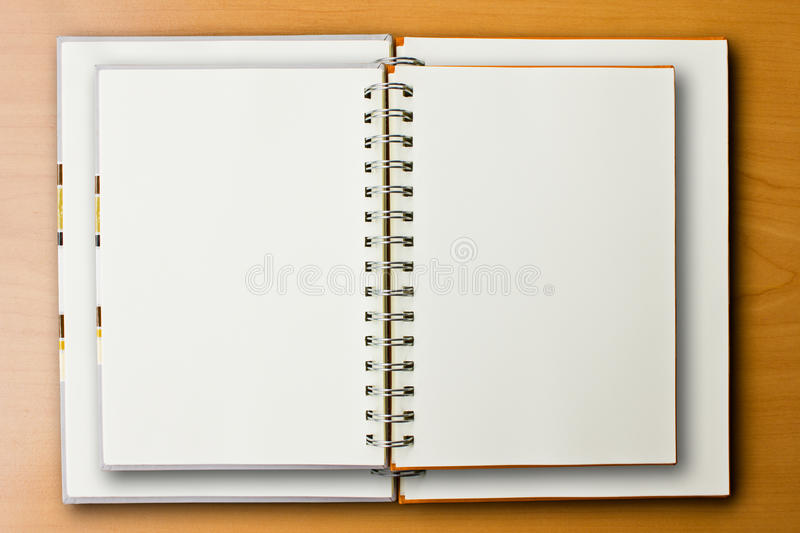 Double Notebook on wood background. Double Notebook on the Wood Background stock photography